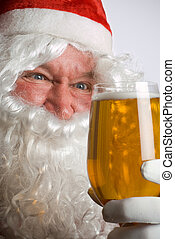 Santa mad for beer