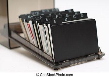Business Card Holder 1 - Business card holder focus on A...