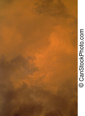 Orange cloud background 2 - Natural storm orange and black...