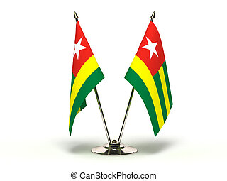 Miniature Flag of Togo Isolated - Miniature Flag of Togo...