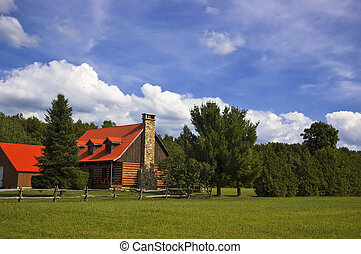 Country House - Country house with trees and land