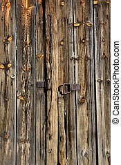 Wooden door - Old wooden barn door from Macedonia