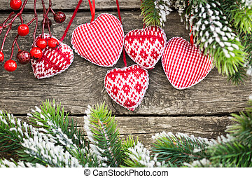 Christmas tree decorations - Red Christmas tree decorations...