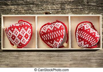 boîte, cœurs