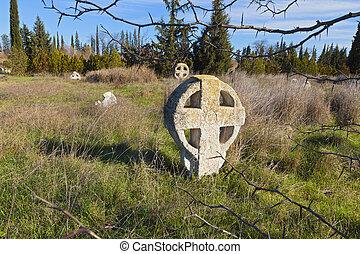 Medieval cemetery in Europe