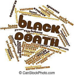 Word cloud for Black Death - Abstract word cloud for Black...