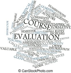 Word cloud for Course evaluation - Abstract word cloud for...