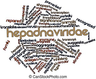 Word cloud for Hepadnaviridae - Abstract word cloud for...