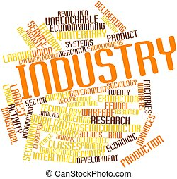 Industry - Abstract word cloud for Industry with related...