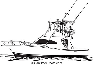 Clip Art Fishing Boat Clipart boat illustrations and clipart 52597 royalty free sport fishing offshore boat