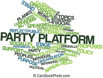 Party platform - Abstract word cloud for Party platform with...