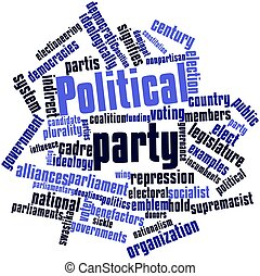 Political party - Abstract word cloud for Political party...