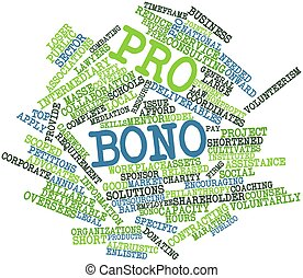 Pro bono - Abstract word cloud for Pro bono with related...