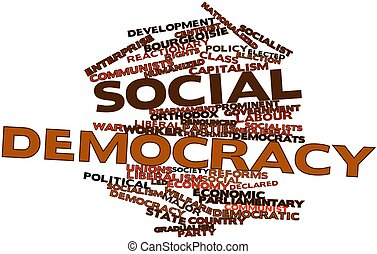 Social democracy - Abstract word cloud for Social democracy...