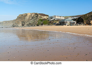 Watergate Bay Cornwall - The beautiful beach at Watergate...