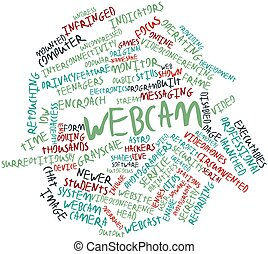Word cloud for Webcam - Abstract word cloud for Webcam with...