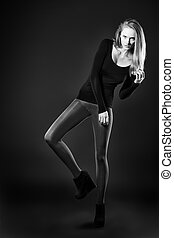 european style - Full length portrait of an attractive young...
