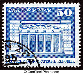Postage stamp GDR 1973 New Guardhouse, War Memorial, Berlin...