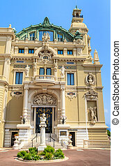 Monte Carlo Casino and Opera Facade, Monaco,  French Riviera