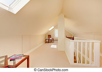 Bright clean attic in the small home - Bright clean attic in...