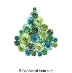 Curling, papier, boże narodzenie, drzewo