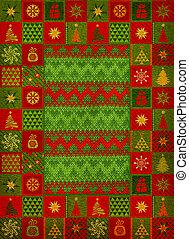 Christmas ornament carpet