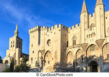 Avignon in Provence - View on Popes Palace - Avignon - View...