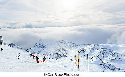 Ski resort. Austria - Winter landscape - Ski resort Zell am...