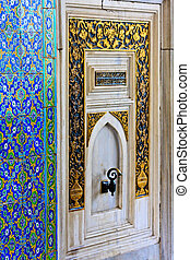 Istanbul Topkapi Palace Oriental Ornaments and Tiles Details...