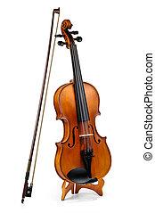 violín, violín, palo