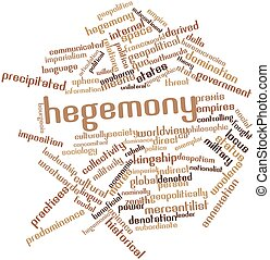 Hegemony - Abstract word cloud for Hegemony with related...