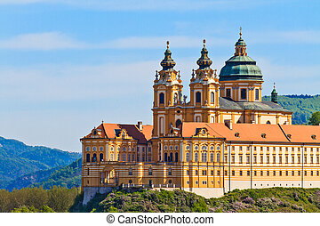 Melk - Famous Baroque Abbey Stift Melk, Austria - Melk Abbey...