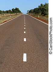 Endless Highway in Outback - The Red Centre, Australia