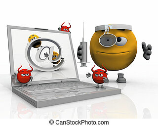 Dr Smiley anti virus and an infected computer