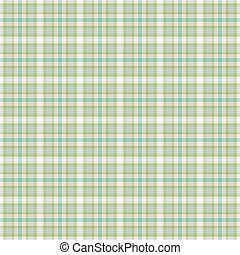 Seamless Soft Plaid - Seamless soft plaid in shades of green...