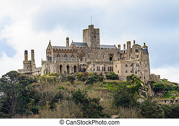St. Michael´s Mount in Cornwall, UK - St. Michael´s Mount in...