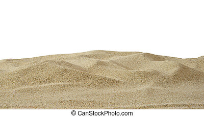 Sand Dunes - Sand dune on white background