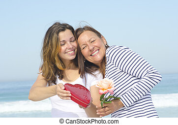 Love of Adult Mother and Daughter - Mother's Day or Birthday...