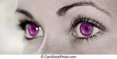 Purple Eye - Beautiful, Feminine - Beautiful Purple Feminine...