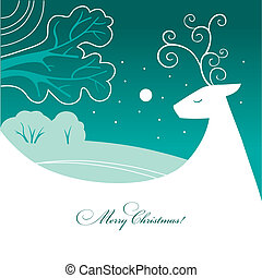 Background with Christmas reindeer
