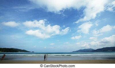 Beach, time lapse