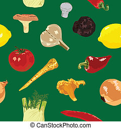 seamless background with vegetables - Seamless green...