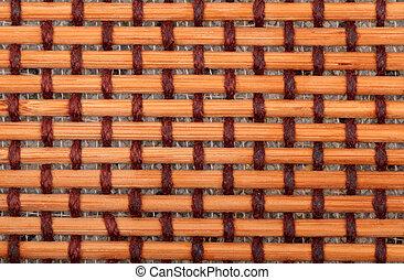 Brown bamboo mat