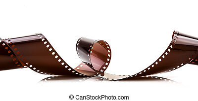 35mm film strip isolated on white background