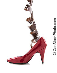 Red Shoe with film strip