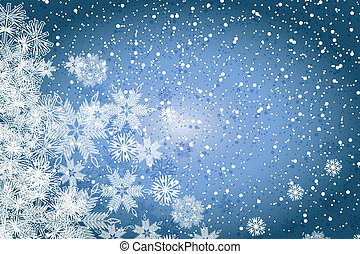 Abstract winter Christmas background - Abstract blue winter...