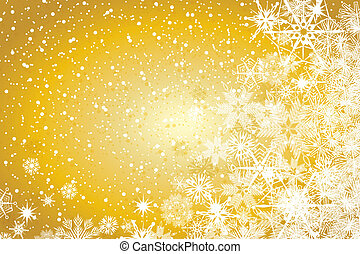 Abstract winter Christmas background - Abstract gold winter...