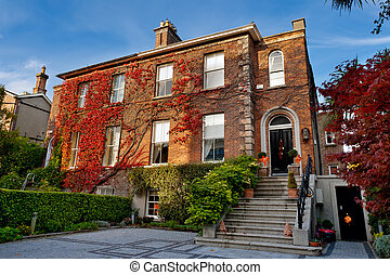 Dublin house, Ireland - Typical brick house in Dublin,...