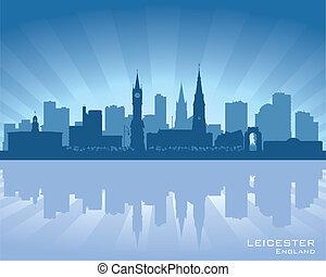 Leicester, England skyline. - Leicester, England skyline...