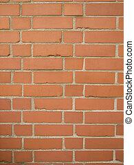 Red Bricks - Alte rote Backsteinmauer im Hochformat als...